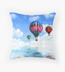 landscape. hot air baloon Throw Pillow