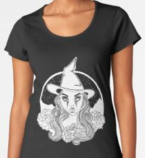 Witch and the galaxy Women's Premium T-Shirt