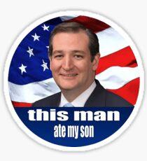 This Man Ate My Son Sticker