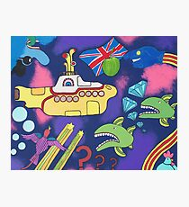 Submarine in Space Photographic Print