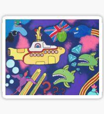 Submarine in Space Sticker