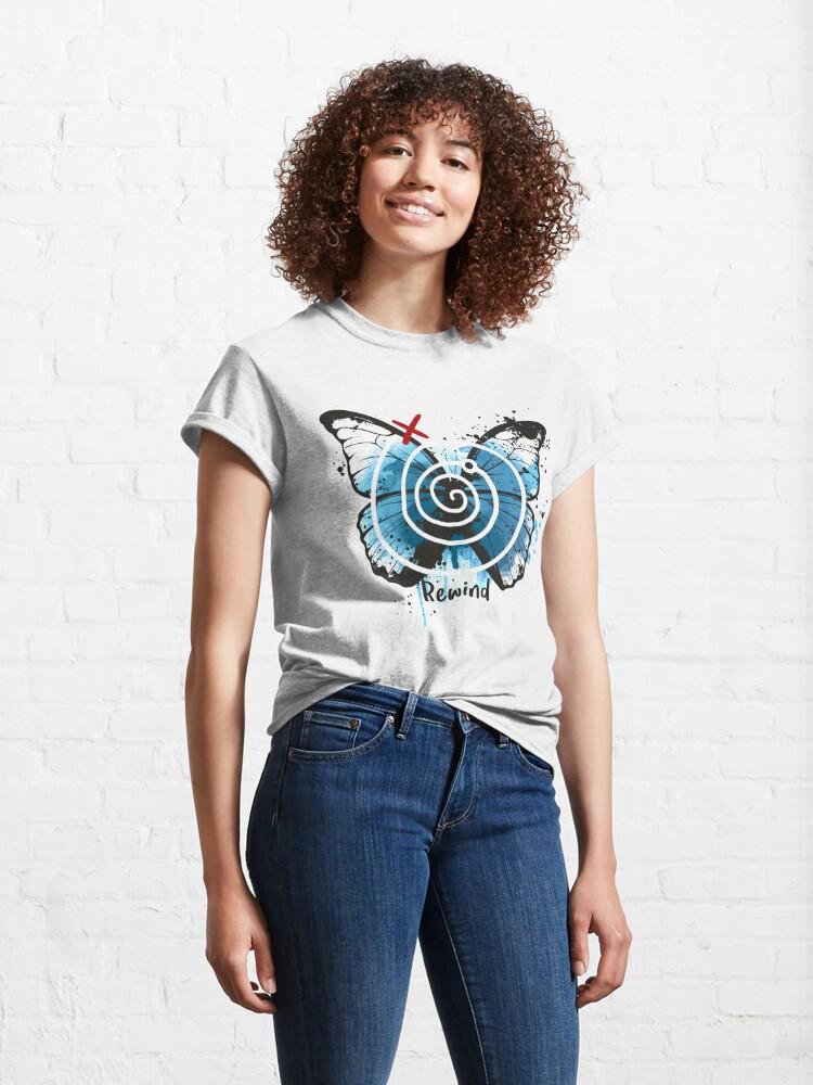 Alternate view of rewind life is strange Classic T-Shirt