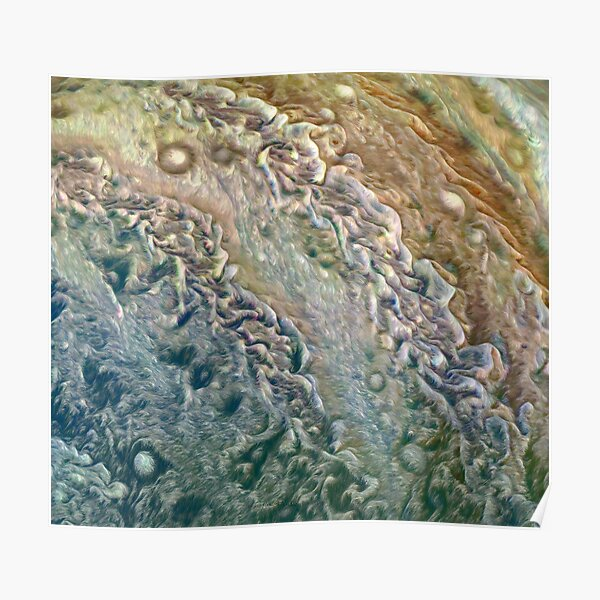 Jupiter On Juno Perijove 8 Poster