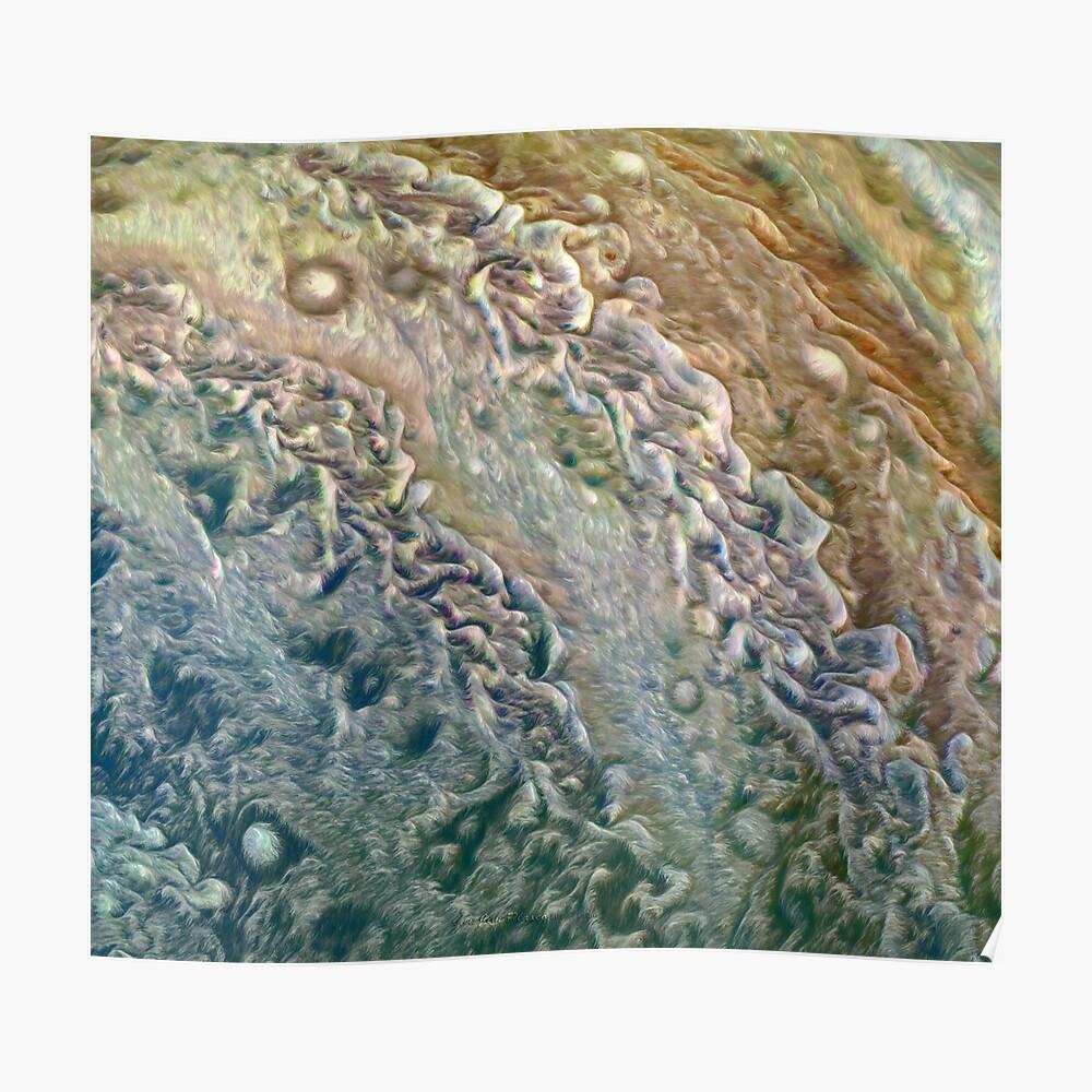 Jupiter auf Juno Perijove 8 Poster
