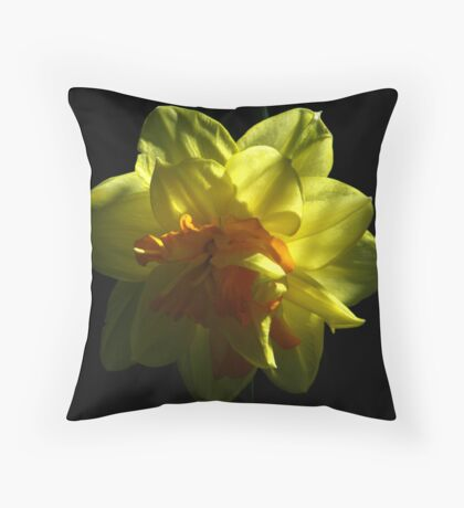Double Daffodil Delight Throw Pillow