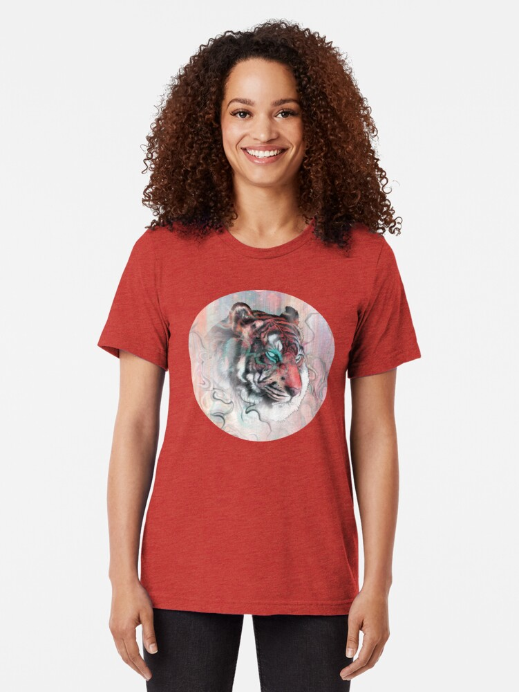 Alternate view of Illusive by Nature Tri-blend T-Shirt