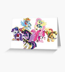 my little pony pirate ponies Greeting Card