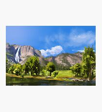 Landscape Digital Brush Painting Photographic Print