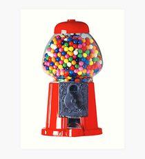 Retro Gum ball machine red Art Print