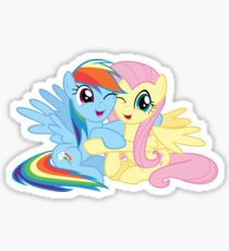 Rainbow Dash and Fluttershy hugging Sticker