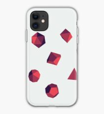 Ruby Red - Polyhedral Dice Set iPhone Case