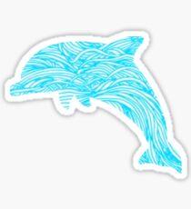 Pretty Dolphin Design Sticker