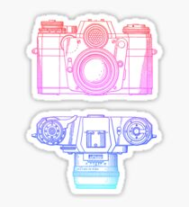 Vintage Photography - Contarex (Multi-colour) Sticker