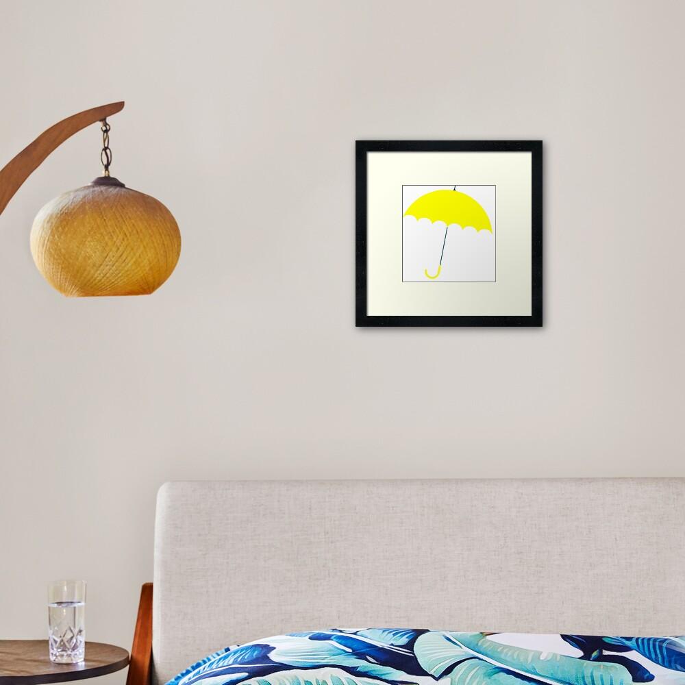 How I Met Your Mother Yellow Umbrella Framed Art Print