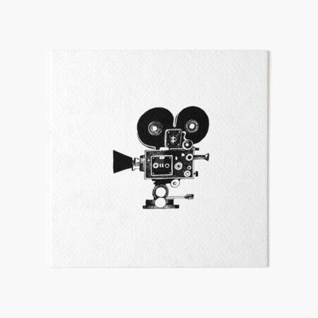 Old Movie Camera vers. 2 Art Board Print