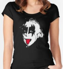 EINSTEIN - KISS - PARODY  Women's Fitted Scoop T-Shirt