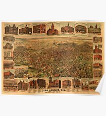 Panoramic Maps Los Angeles Cal population of city and environs 65000 Poster