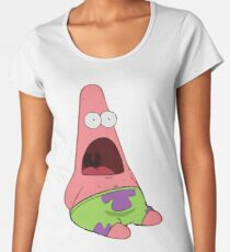 Surprised Patrick Women's Premium T-Shirt