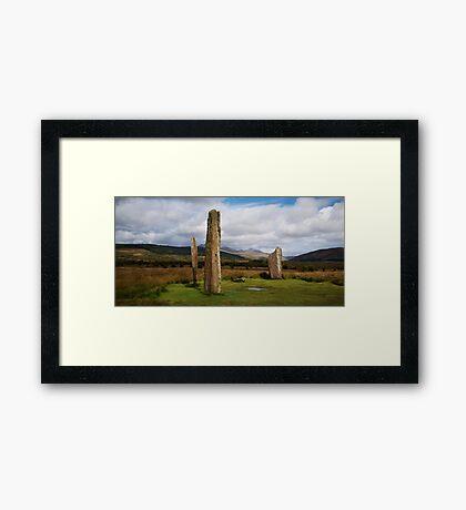 Stones at Machrie Framed Print