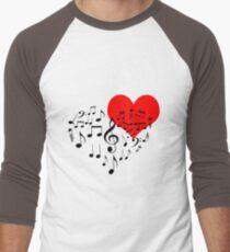 Singing Heart Black On White T-Shirt
