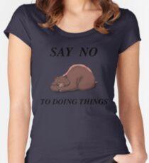 Sleeping bear Women's Fitted Scoop T-Shirt
