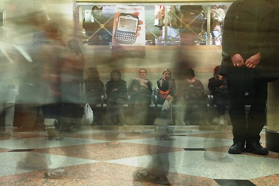 Penn Station at Rush Hour by Kyle Jerichow