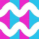 Pink  and blue abstract Column background by ikshvaku