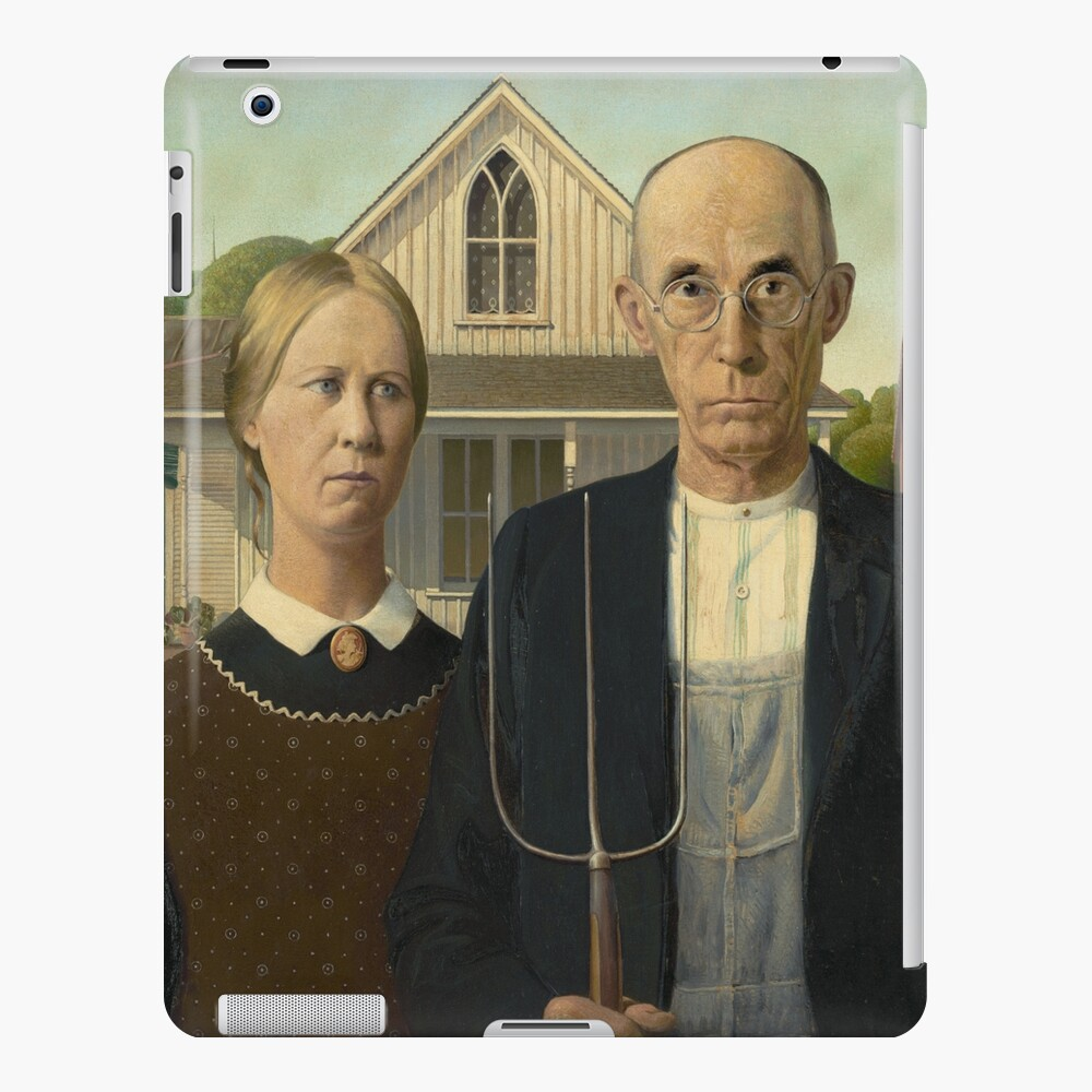 American Gothic Oil Painting by Grant Wood iPad Case & Skin
