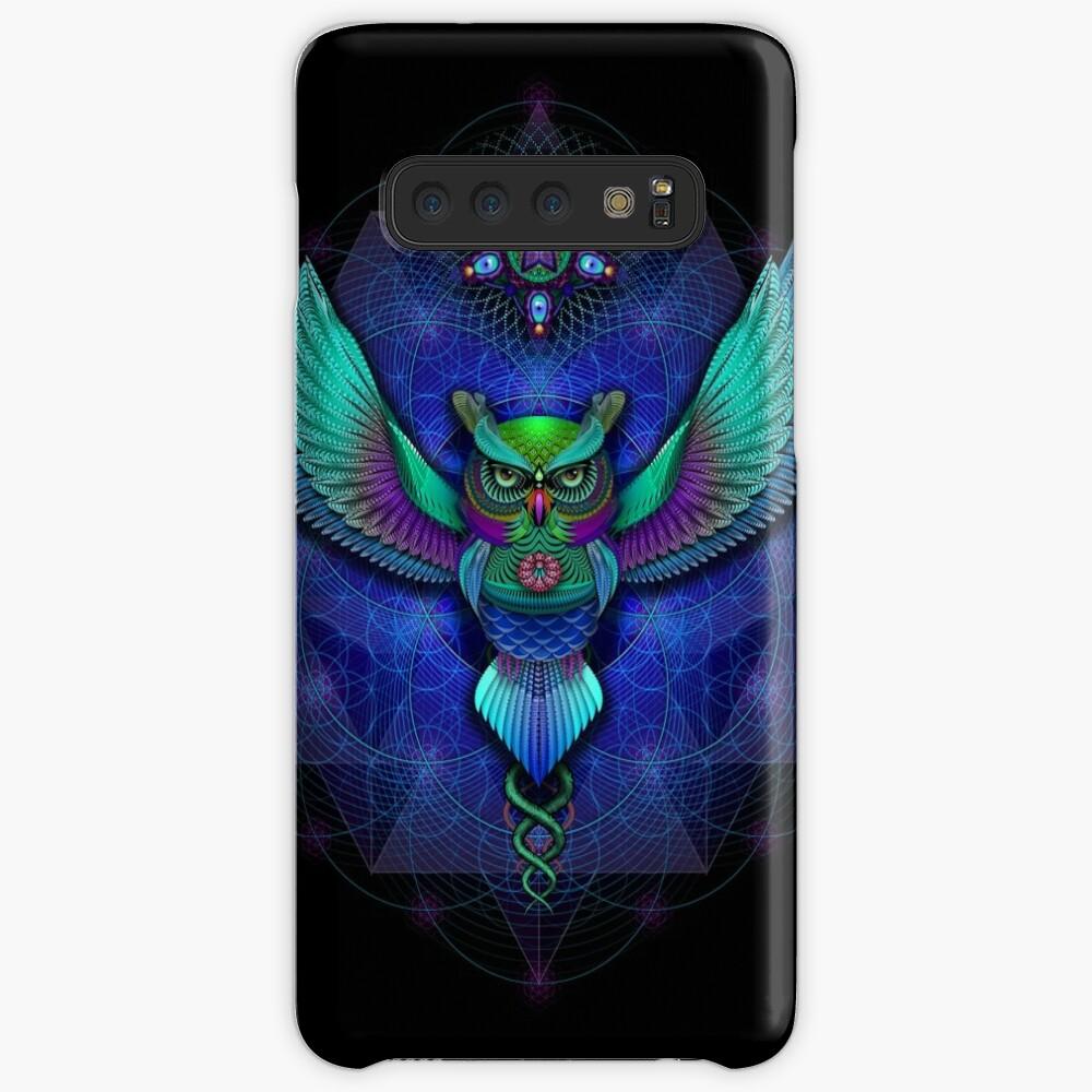 Sacred Geometry Owl Case & Skin for Samsung Galaxy