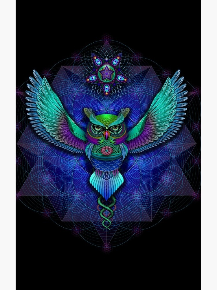 Sacred Geometry Owl by MushroomDreams