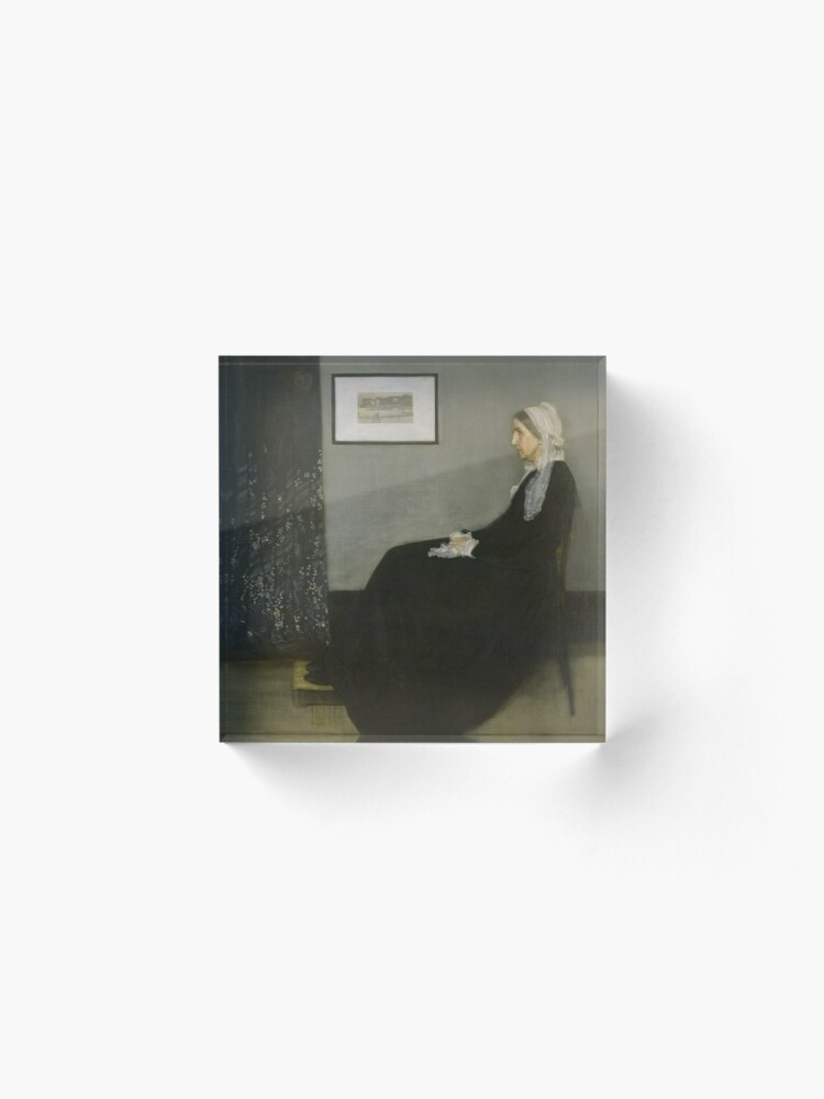Alternate view of Whistlers Mother Oil Painting by James McNeill Whistler Acrylic Block