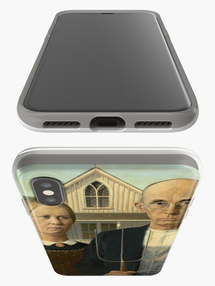 Alternate view of American Gothic Oil Painting by Grant Wood iPhone Cases & Covers