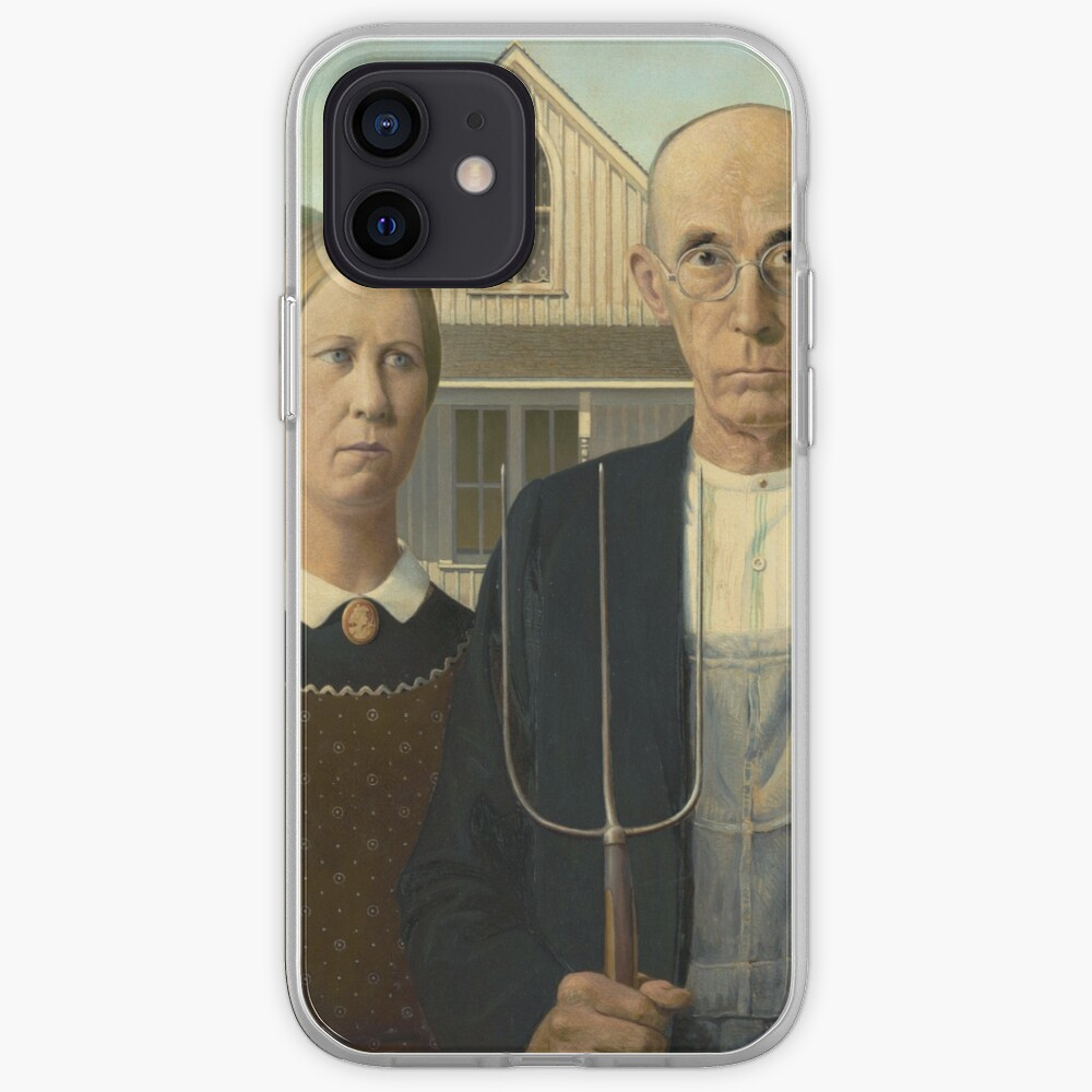 American Gothic Oil Painting by Grant Wood iPhone Case & Cover