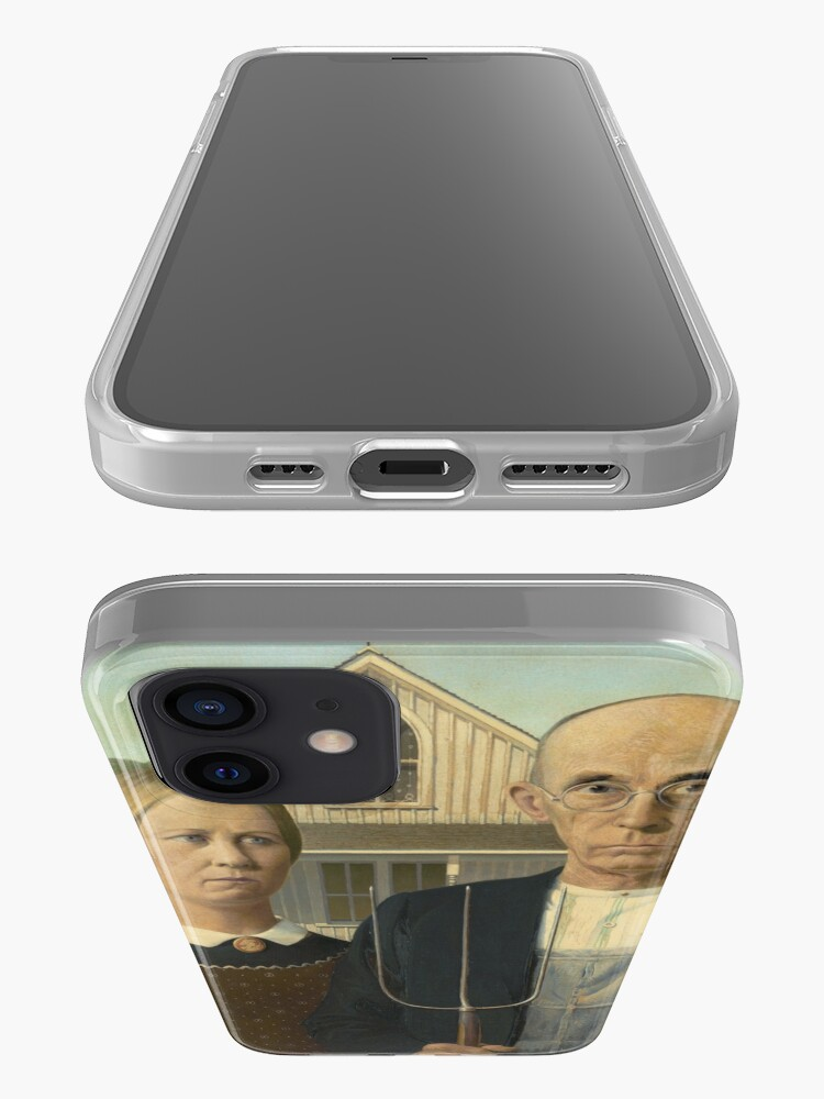 Alternate view of American Gothic Oil Painting by Grant Wood iPhone Case & Cover