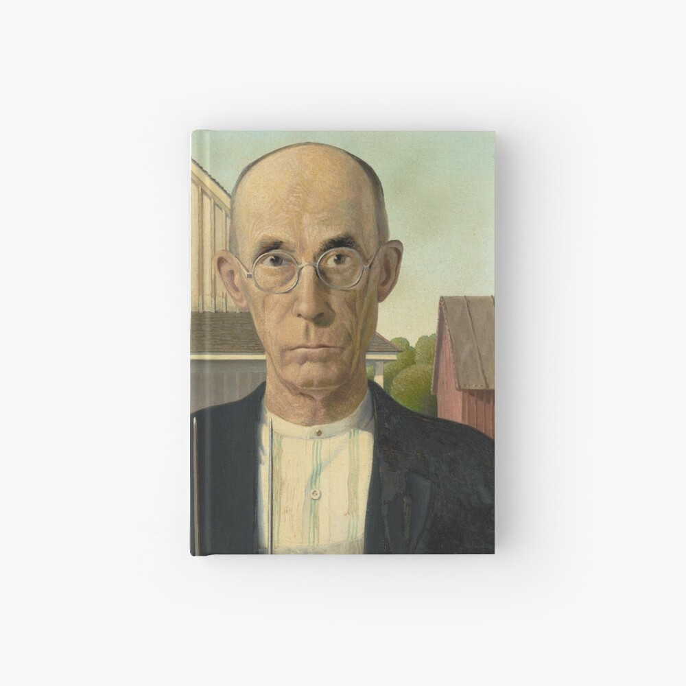 American Gothic Oil Painting by Grant Wood Hardcover Journal
