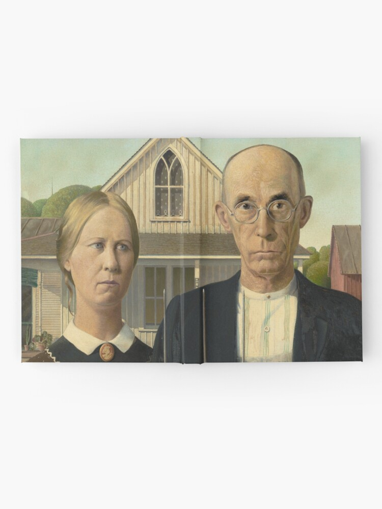 Alternate view of American Gothic Oil Painting by Grant Wood Hardcover Journal