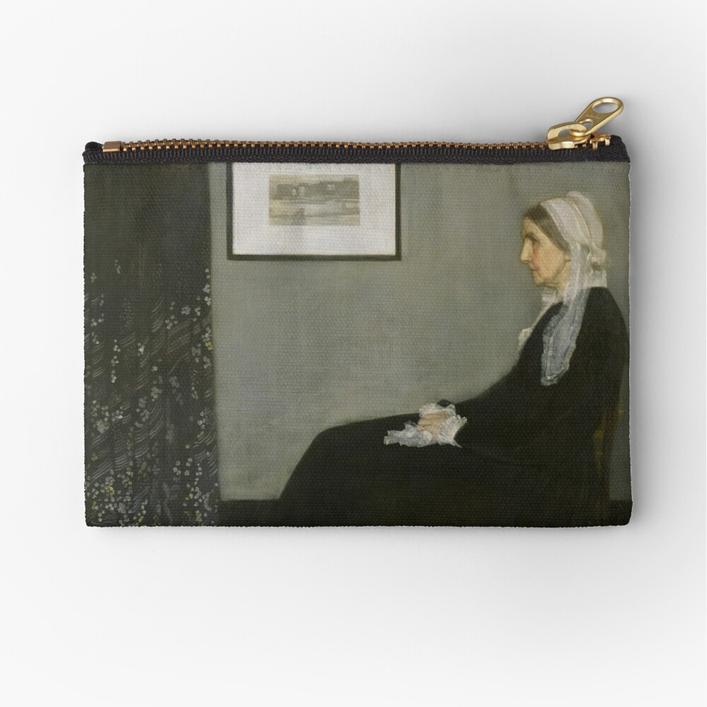 Whistlers Mother Oil Painting by James McNeill Whistler Zipper Pouch