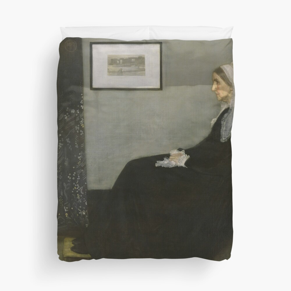 Whistlers Mother Oil Painting by James McNeill Whistler Duvet Cover