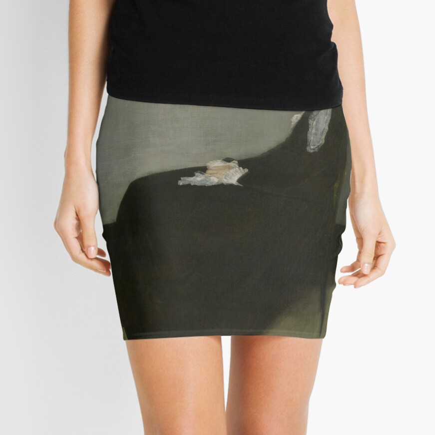 Whistlers Mother Oil Painting by James McNeill Whistler Mini Skirt