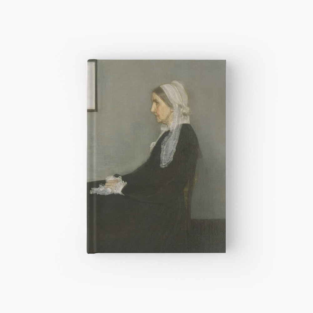 Whistlers Mother Oil Painting by James McNeill Whistler Hardcover Journal
