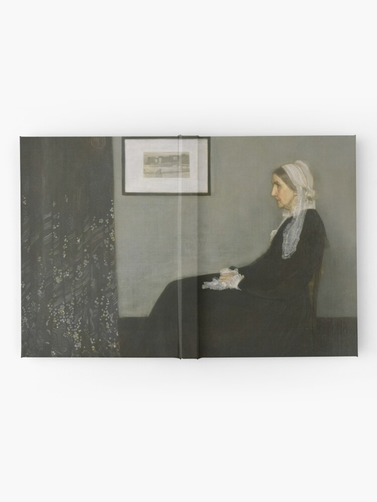 Alternate view of Whistlers Mother Oil Painting by James McNeill Whistler Hardcover Journal