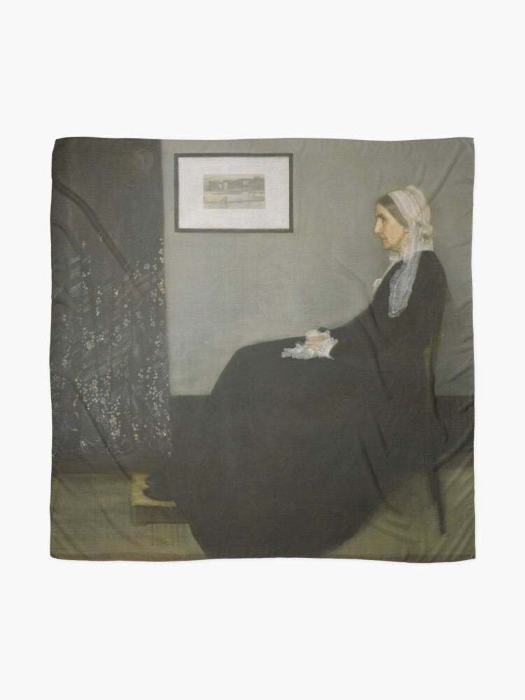 Alternate view of Whistlers Mother Oil Painting by James McNeill Whistler Scarf