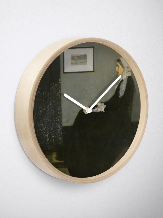 Alternate view of Whistlers Mother Oil Painting by James McNeill Whistler Clock
