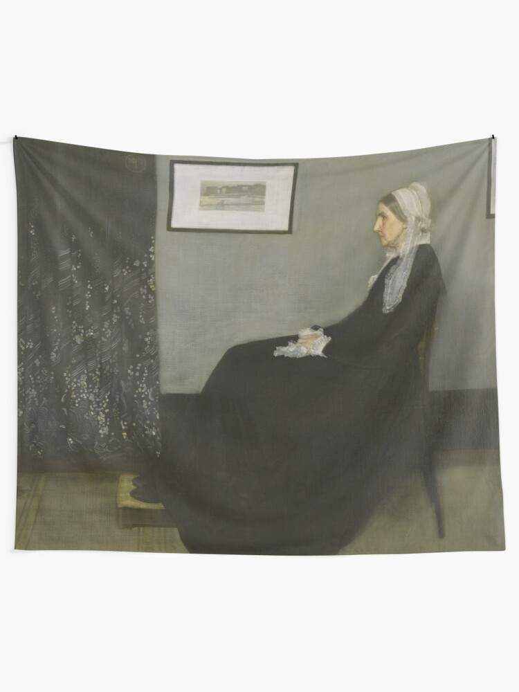Alternate view of Whistlers Mother Oil Painting by James McNeill Whistler Tapestry