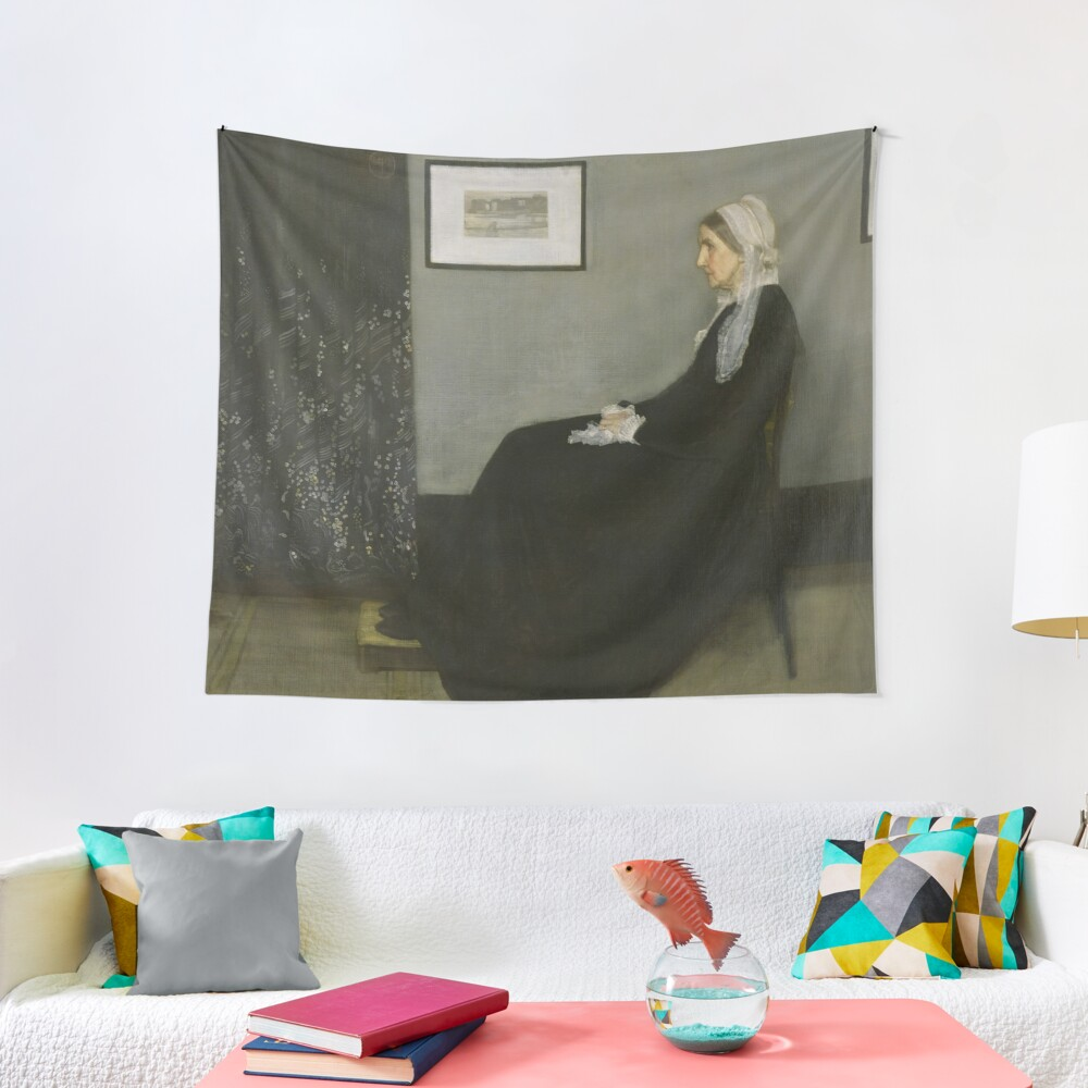Whistlers Mother Oil Painting by James McNeill Whistler Tapestry
