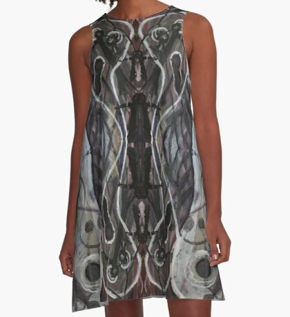Ghosts Emerging A-Line Dress
