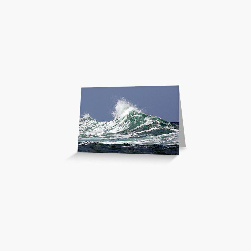 Wave on a story day Greeting Card
