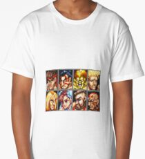 Street Fighter 2 Character Select Screen Long T-Shirt