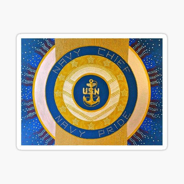 Navy Mandala Sticker