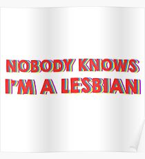 Nobody Knows I'm A Lesbian  Poster